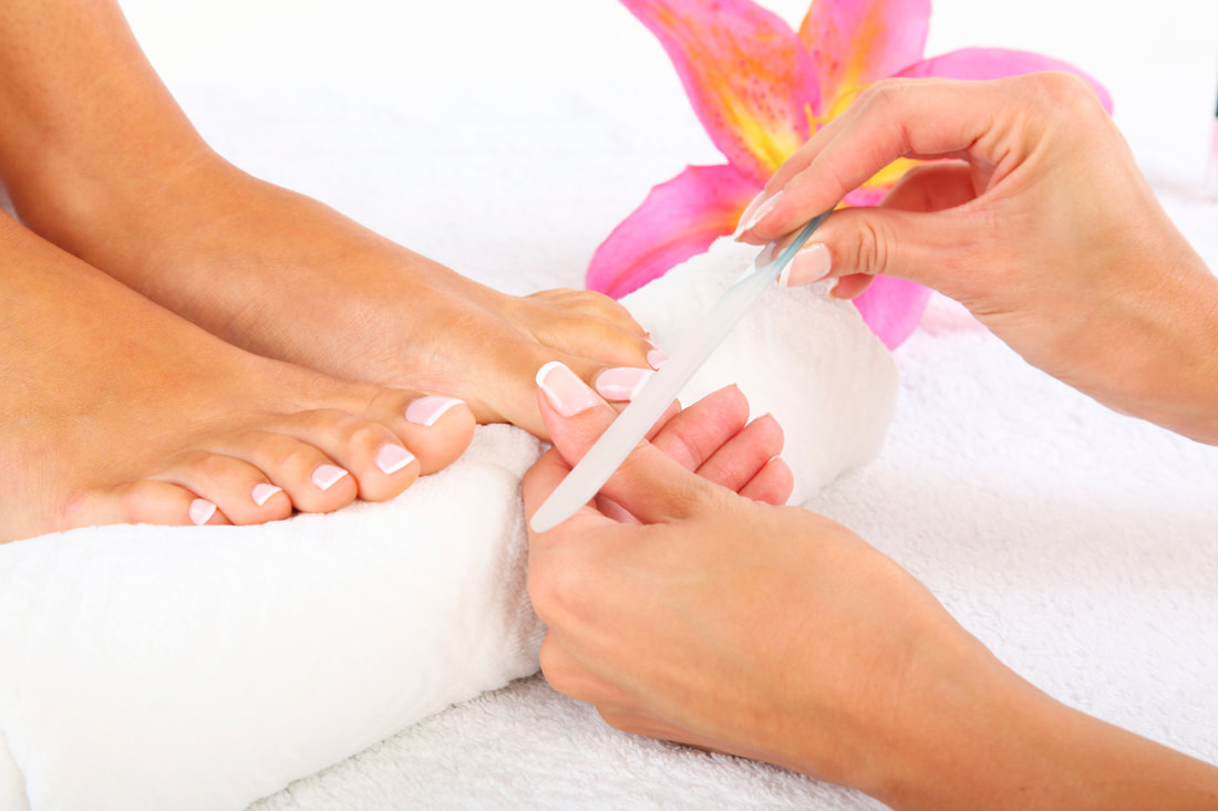 A professional pedicure