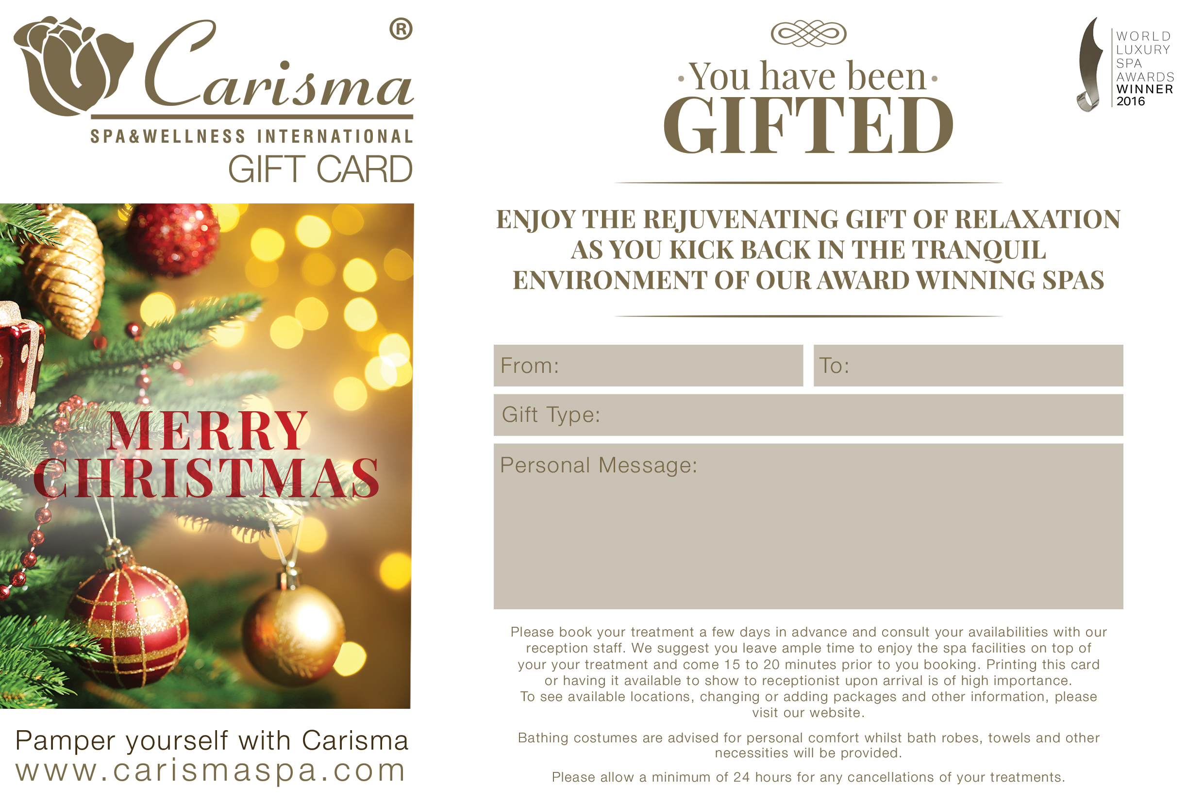 Christmas E-Gift Card - Indian Head Massage
